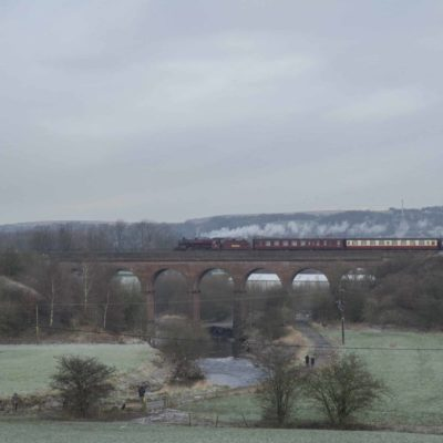 LMS Crab crossing Roche Viaduct