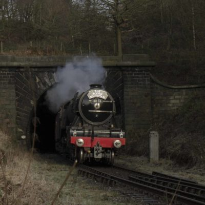 Flying Scotsman leaving Brooksbottoms Tunnel