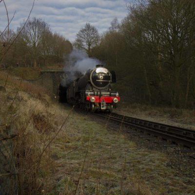 Flying Scotsman leaving Brooksbottoms Tunnel