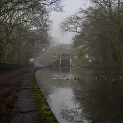 Five Rise Locks, Leeds & Liverpool Canal near Bingley