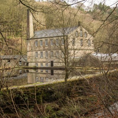 Gibson Mill, Hardcastle Craggs near Hebden Bridge.