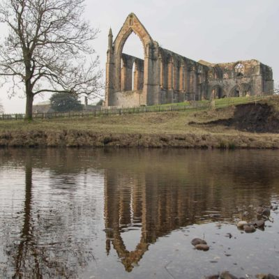 Bolton Abbey Priory across the River Wharfe