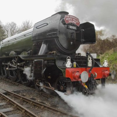 Flying Scotsman, leaving Oxenhope for Carlisle.