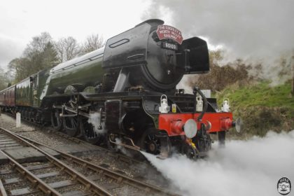 Flying Scotsman, Leaving Oxenhope.