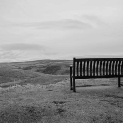 At the bottom of Buttertubs, a seat overlooking the hills.