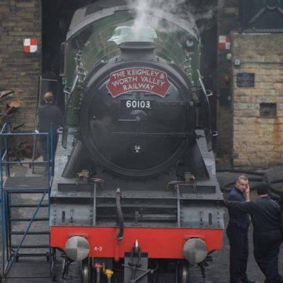 Steaming at Haworth Station Yard
