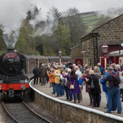 Oxenhope Railway Station crowd