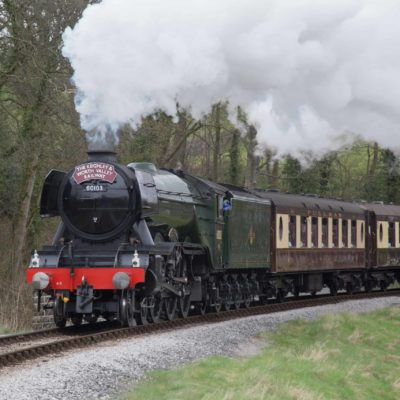 Steaming out of Oakworth Sation