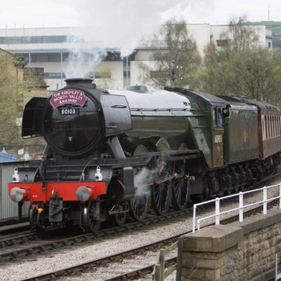 60103 leaving Keighley Railway Station