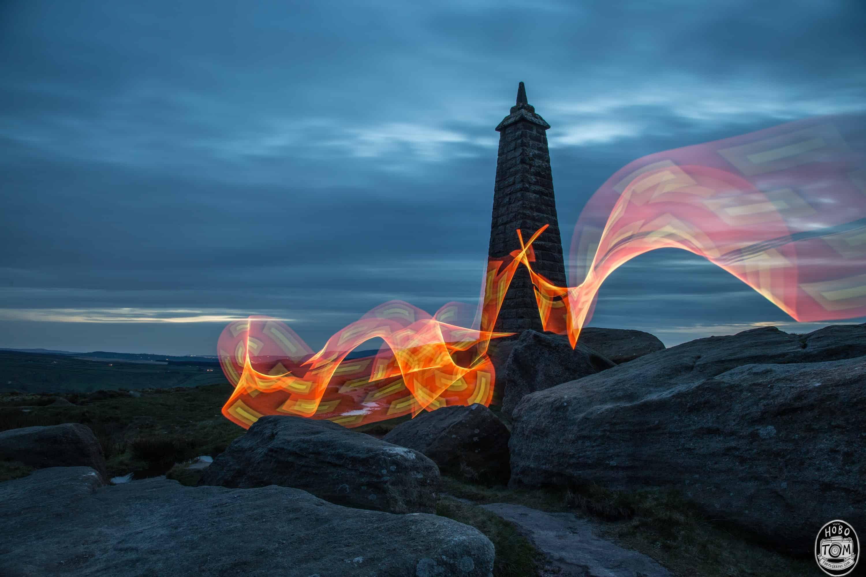 Light painting at Cowling Pinnacle