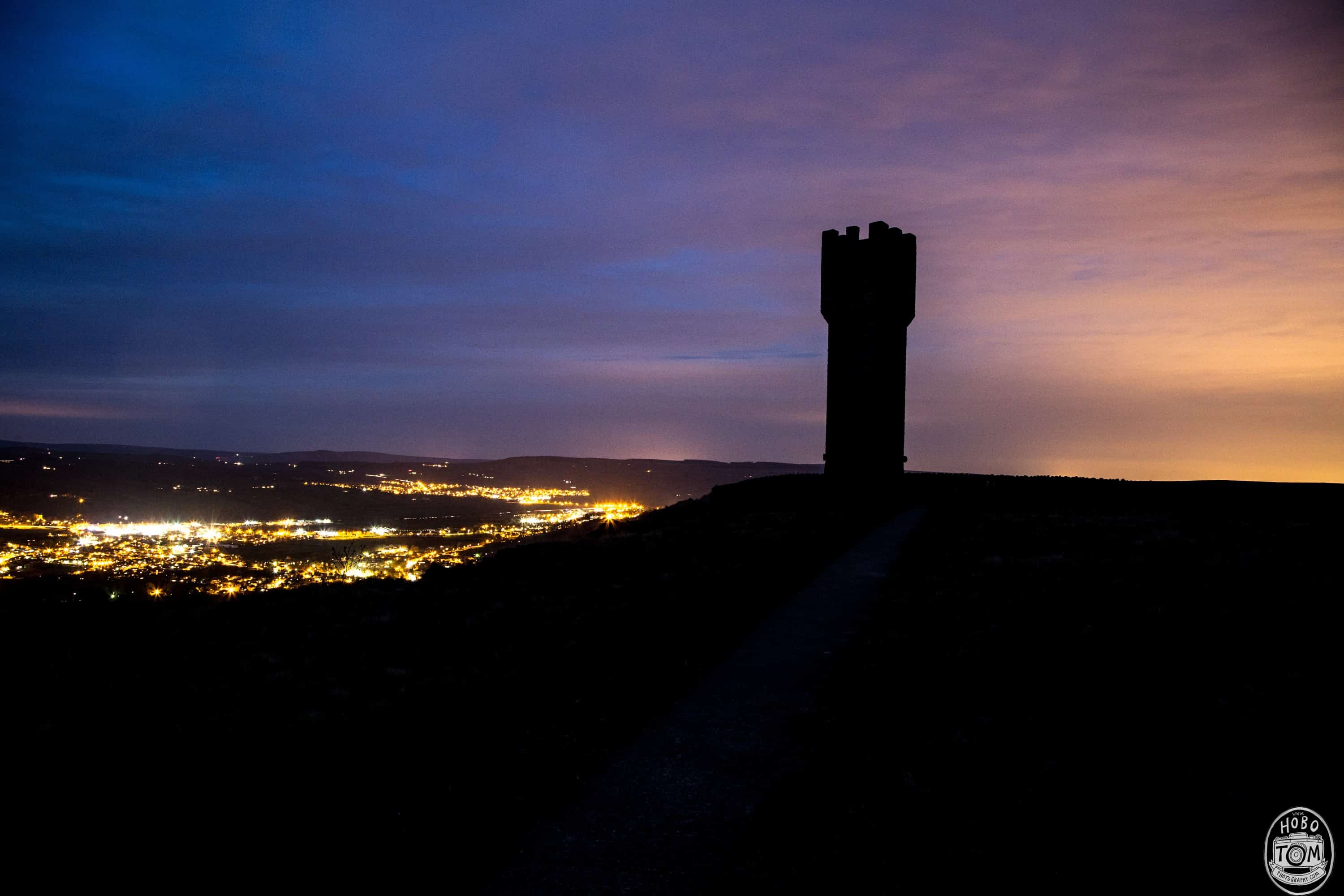 Lund's Tower after sunset