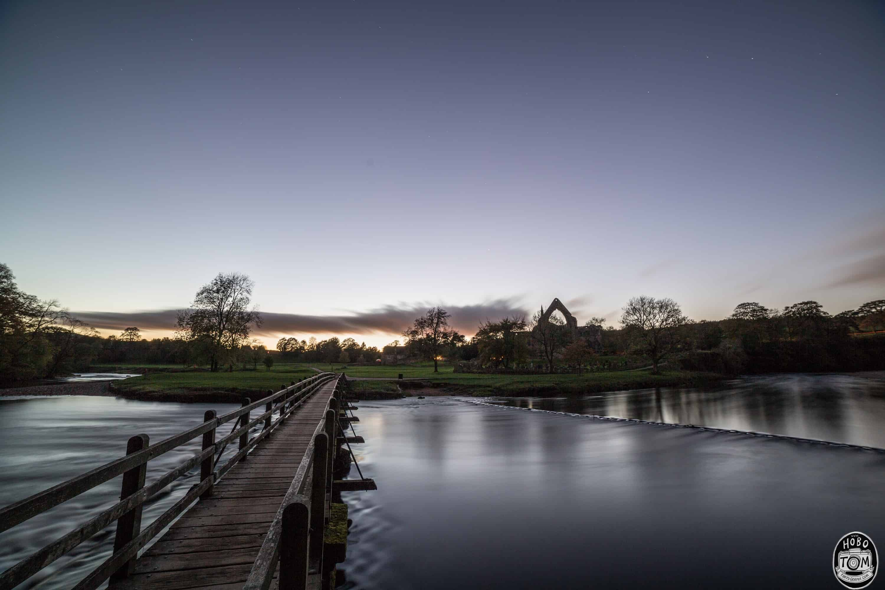 Sunset at Bolton Abbey