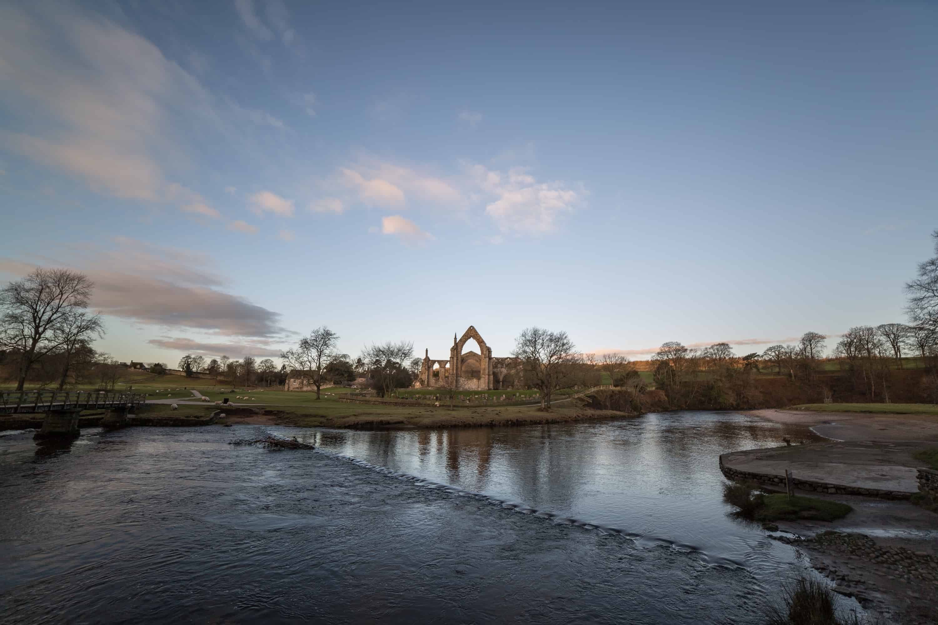 Stepping Stones & Abbey Priory, Bolton Abbey, Skipton.