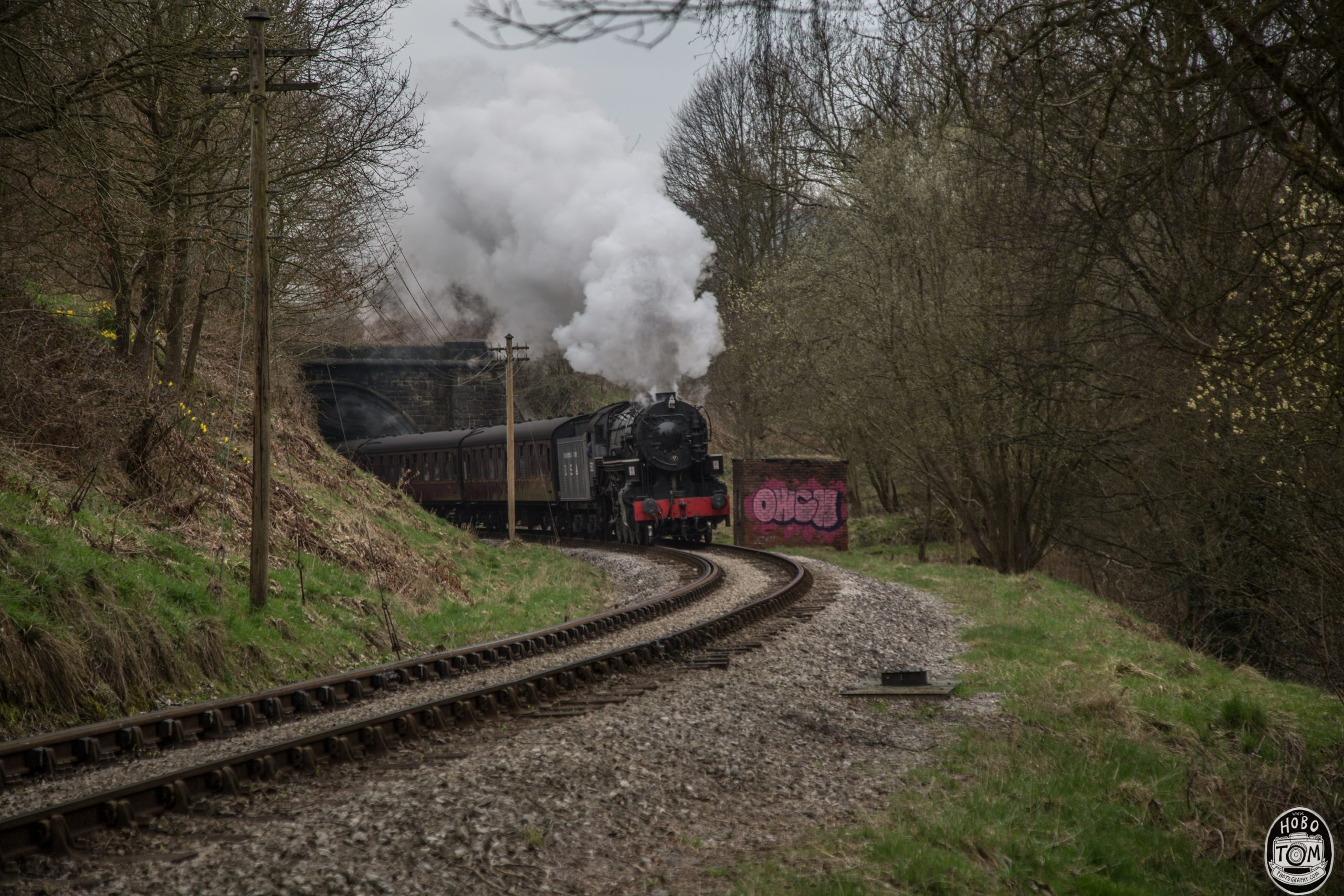 Big Jim, Leaving Oakwroth Tunnel on Keighley Worth Valley Railway