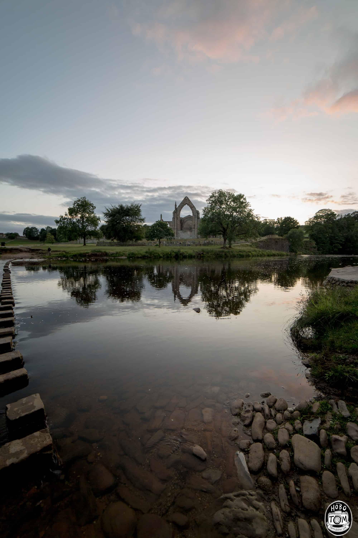 Bolton Abbey across the River Wharf