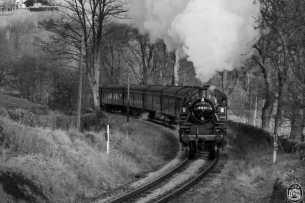 Ivatt leading the way up to Oxenhope Station.